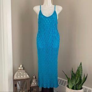 SIMON CHANG, VTG Open Knit Slip Dress